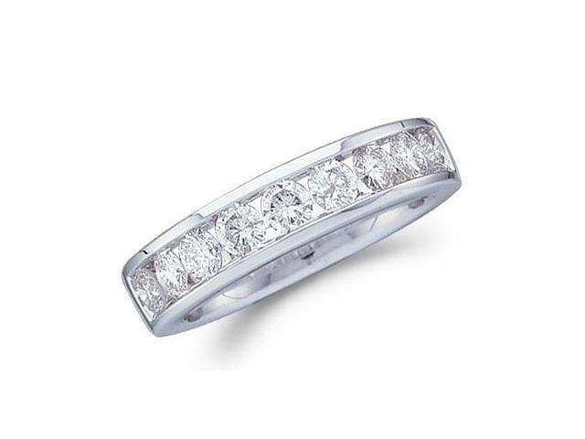 Diamond Wedding Ring 14k White Gold Bridal Band (1.00 Carat)