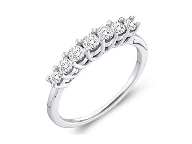 Diamond Anniversary Ring Fashion Band 14k Yellow Gold (1/2 carat)
