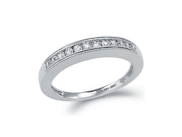 Diamond Ring Wedding Band 14k White Gold Womens (0.25 Carat)
