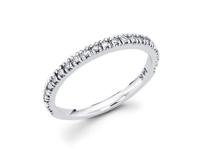 Women's Diamond Ring Wedding Band 14k White Gold Round (1/4 Carat)