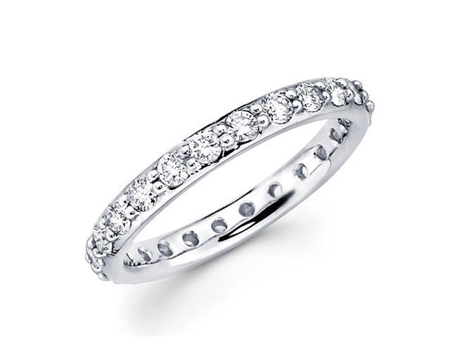 Round Diamond Eternity Band 14k White Gold Wedding Ring (1.06 Carat)
