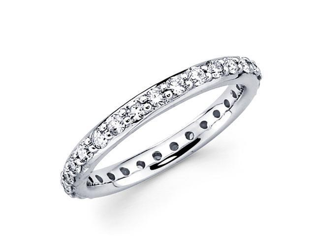 Round Diamond Eternity Band 14k White Gold Anniversary Ring (0.83 CTW)