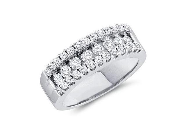 Diamond Wedding Ring 14k White Gold Anniversary Band Bridal (1.00 CT)