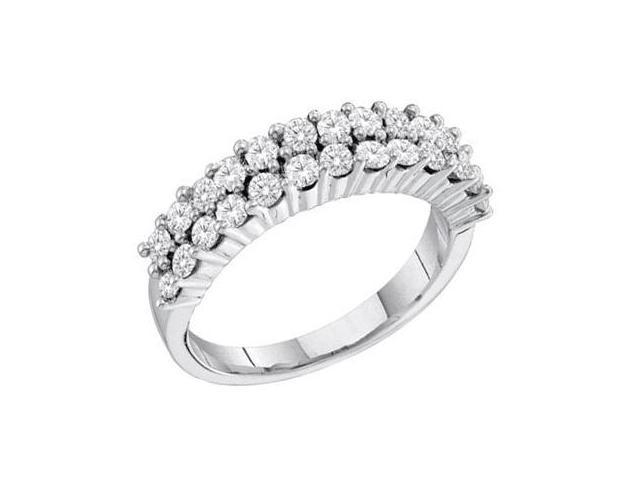 Diamond Wedding Ring Anniversary Band 14k White Gold Bridal (1.00 CT)