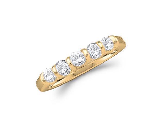 Diamond Wedding Ring 14k Yellow Gold Anniversary Band Bridal (1/2 CTW)