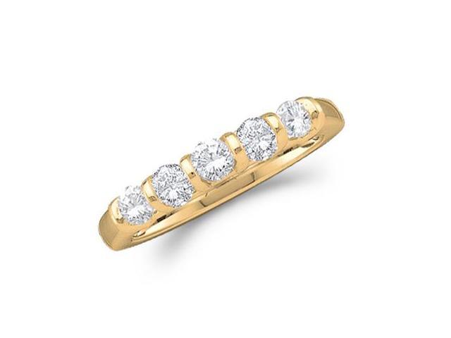 Diamond Wedding Ring 14k Yellow Gold Anniversary Band Bridal (1/2 CTW)