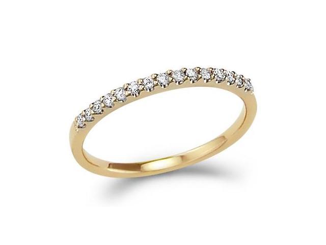 Diamond Wedding Ring 14k Yellow Gold Anniversary Band Bridal (0.15 CT)