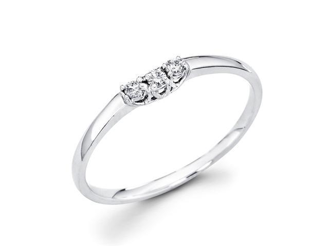 Women's Diamond Wedding Ring 14k White Gold Anniversary Band (0.07 CT)