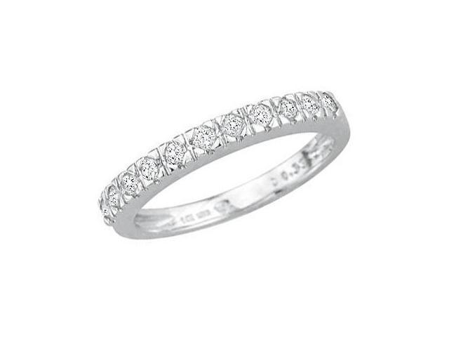 Diamond Wedding Band 14k White Gold Anniversary Ring  (1/3 Carat)