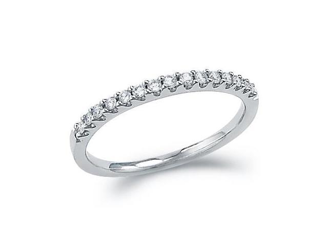 Diamond Wedding Ring 14k White Gold Anniversary Band Bridal (0.15 CT)