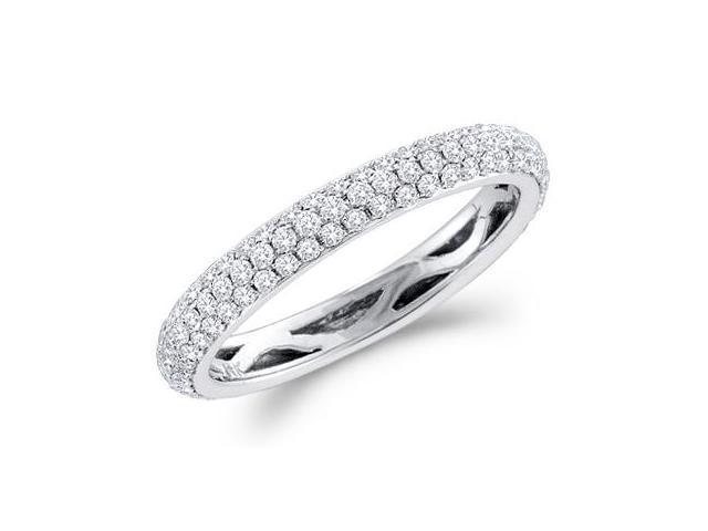 Diamond Wedding Ring 14k White Gold Bridal Anniversary Band (3/4 CT)
