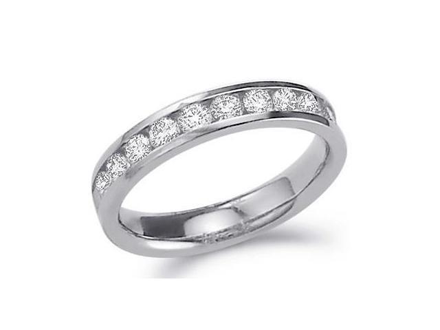 Diamond Wedding Ring 14k White Gold Anniversary Bridal Band 3/4 Carat