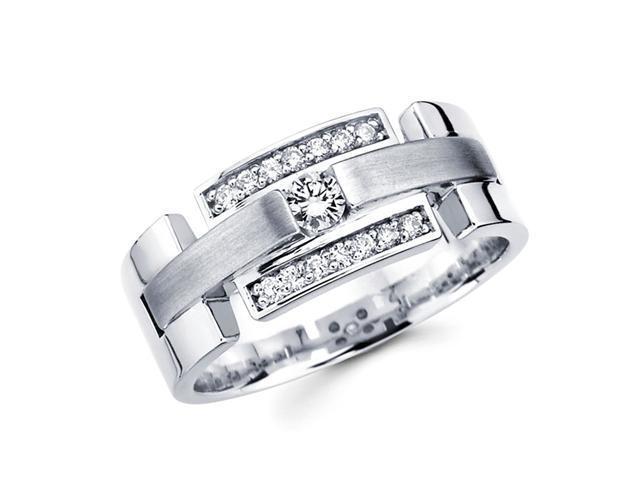 Round Diamond Wedding Band 14k White Gold Anniversary Ring (1/4 Carat)