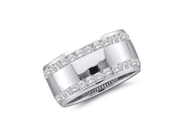 Diamond Wedding Ring 14k White Gold Bridal Anniversary Band (0.53 CT)