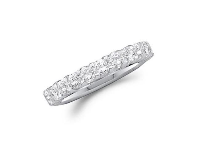 Diamond Wedding Ring 14k White Gold Anniversary Band (1.03 Carat)
