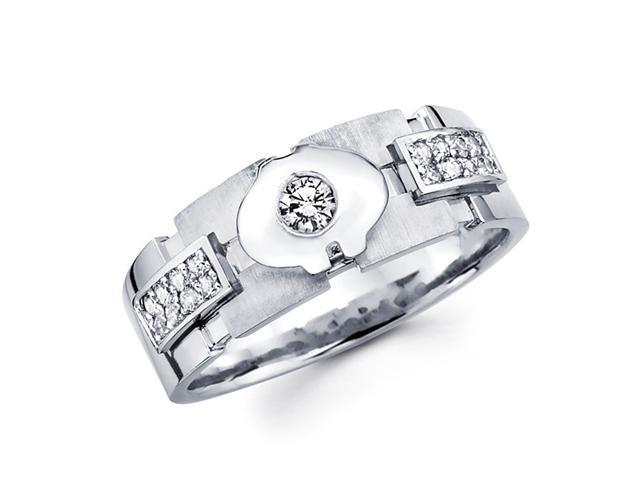 Ladies Diamond Wedding Ring 14k White Gold Anniversary Band (1/4 CTW)