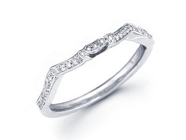 Diamond Wedding Ring 18k White Gold Anniversary Band Fancy Pave Set