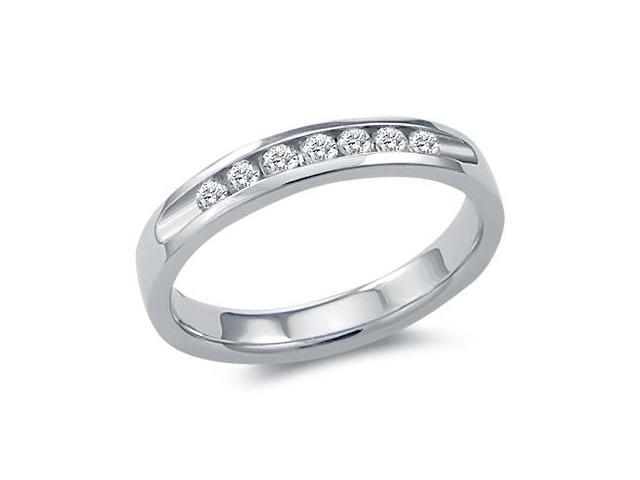 Diamond Wedding Ring 14k White Gold Bridal Anniversary Band (0.28 CT)