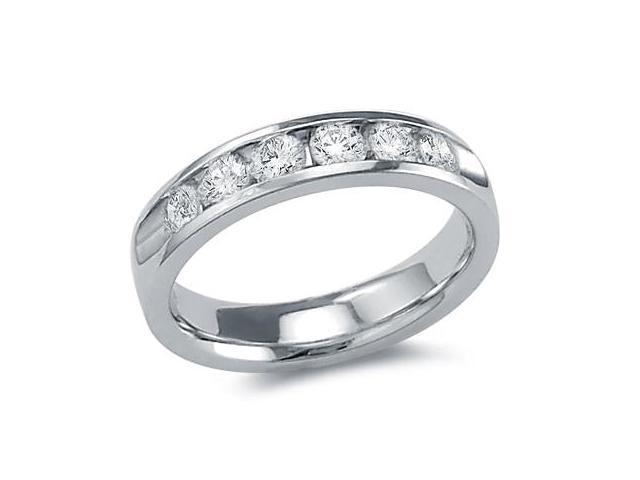 Diamond Wedding Band 14k White Gold Anniversary Bridal Ring 3/4 Carat