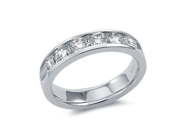 Diamond Wedding Ring 14k White Gold Bridal Anniversary Band (1.03 CT)