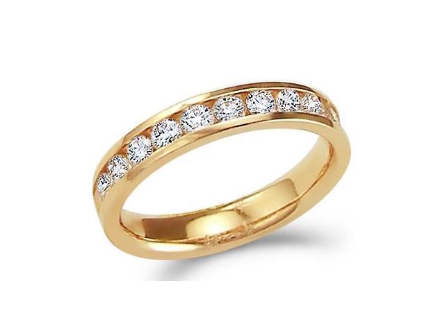 Diamond Wedding Ring 14k Yellow Gold Anniversary Bridal Band 3/4 Carat