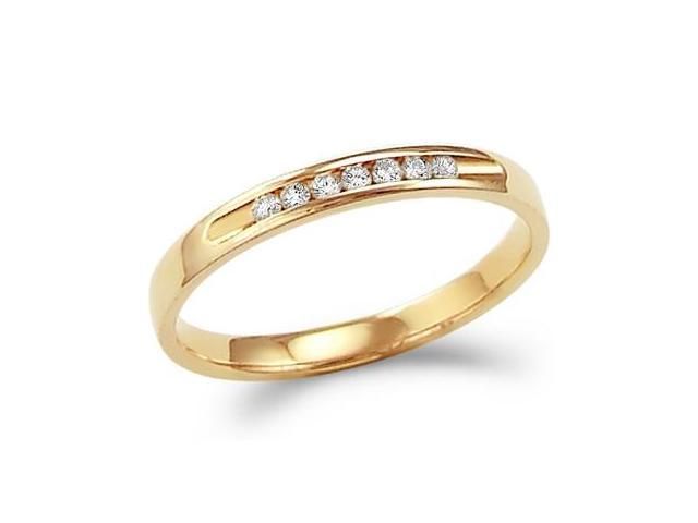 Anniversary Diamond Ring Wedding Band 14k Yellow Gold (0.12 Carat)