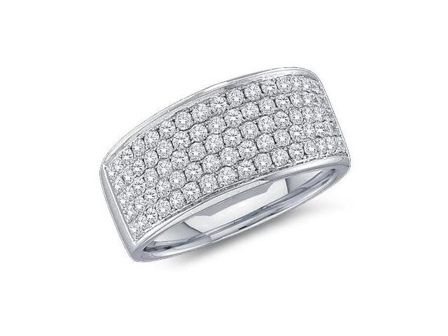 Diamond Wedding Ring 14k White Gold Anniversary Bridal Band (1.00 CT)