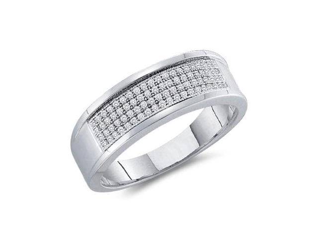 Diamond Wedding Ring 14k White Gold Fashion Band (0.25 Carat)