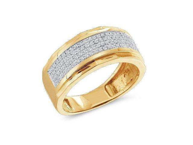 Diamond Wedding Ring Anniversary Band 10k Yellow Gold (0.35 Carat)