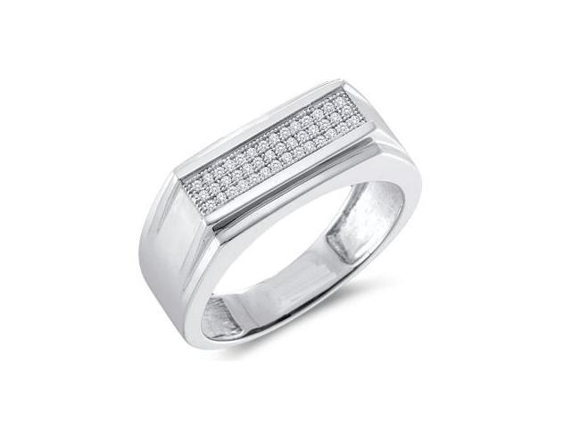 Diamond Ring Fashion Band 10k White Gold Ladies (0.15 Carat)
