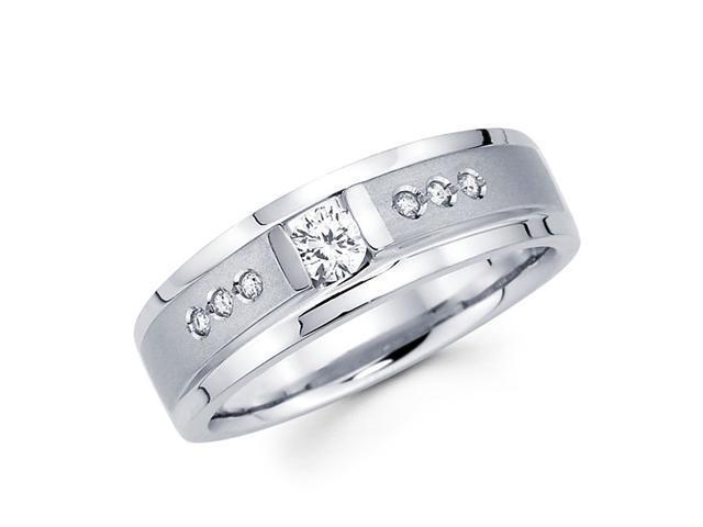 Women's Diamond Wedding Ring 14k White Gold Band (1/4 Carat)