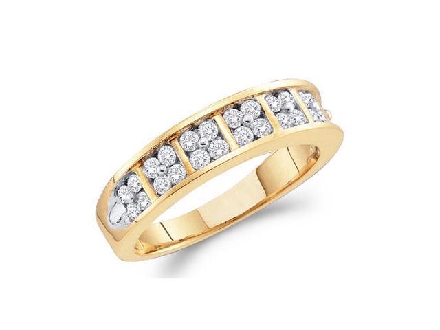 Diamond Wedding Ring 14k Yellow Gold Bridal Anniversary Band (0.50 CT)
