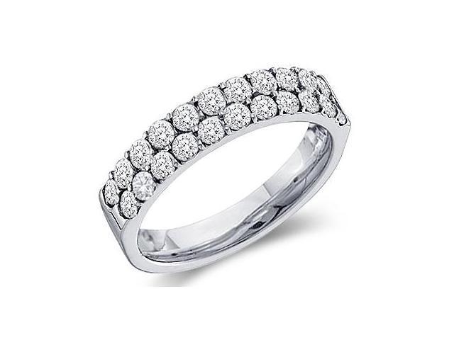Diamond Wedding Ring 10k White Gold Bridal Anniversary Band (0.47 CT)