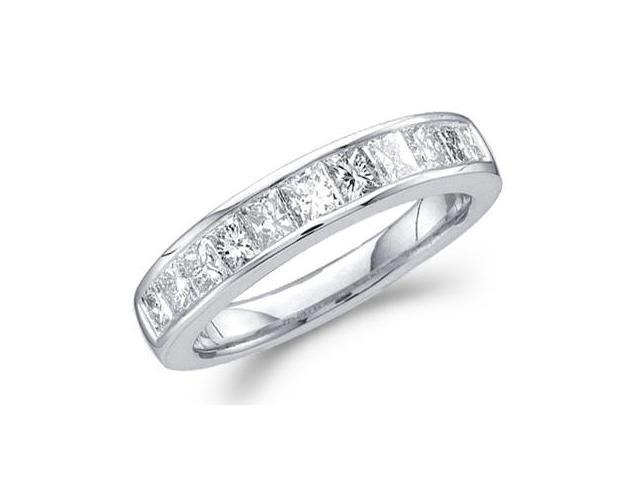 Princess Diamond Wedding Ring 14k White Gold Anniversary Band (1 CT)
