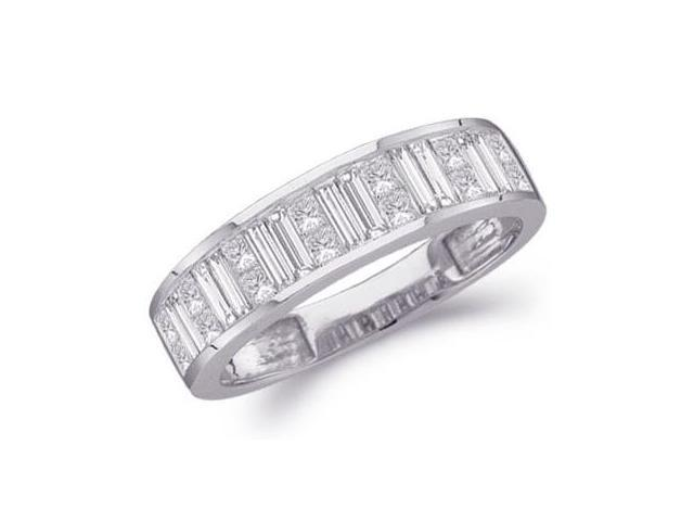 Diamond Wedding Ring 14k White Gold Anniversary Band Bridal (1 Carat)