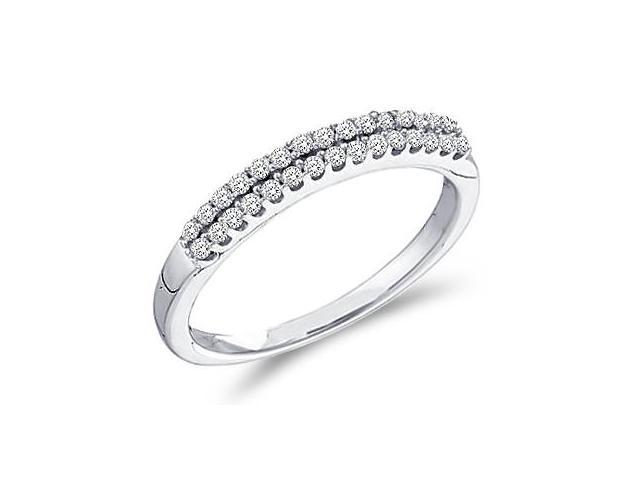 Diamond Ring Wedding Band 14k White Gold Womens (0.20 Carat)