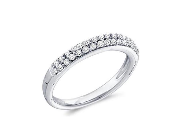 Diamond Wedding Ring 14k White Gold Anniversary Band (0.26 Carat)