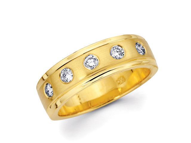 Diamond Wedding Ring 14k Yellow Gold Anniversary Band (1/3 CTW)