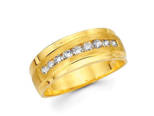 Ladies Diamond Wedding Ring 14k Yellow Gold Anniversary Band (0.40 CT)