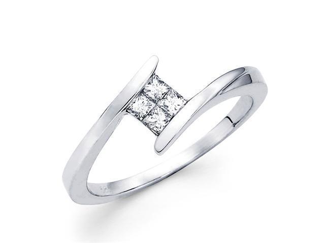 Princess Diamond Anniversary Band 14k White Gold Ring (1/5 Carat)