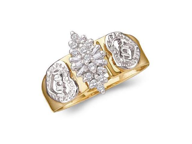 Diamond Cluster Ring Anniversary 10k Yellow Gold (0.12 Carat)