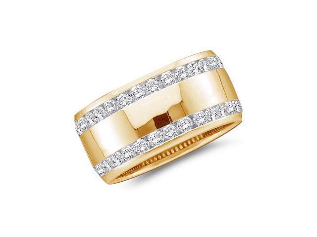 Diamond Wedding Ring 14k Yellow Gold Anniversary Band (1/2 Carat)