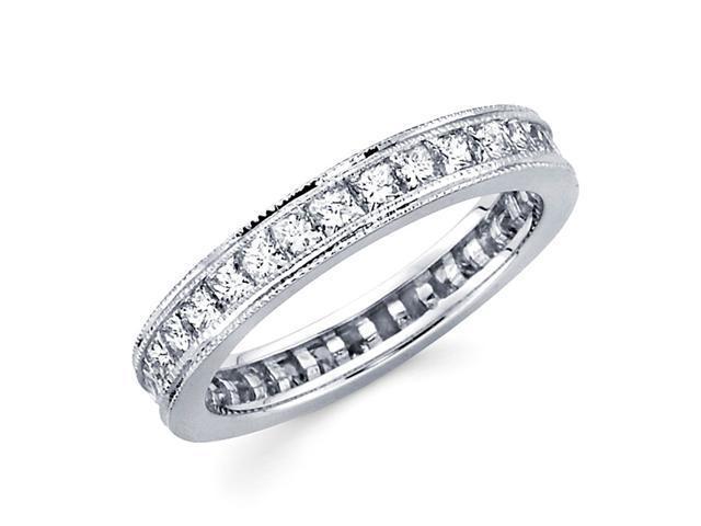 Princess Diamond Eternity Ring 14k White Gold Anniversary Band 1.80 CT