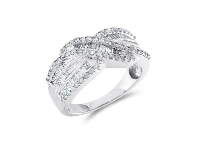 Diamond Anniversary Band 14k White Gold Fashion Ring Women's (3/4 CT)
