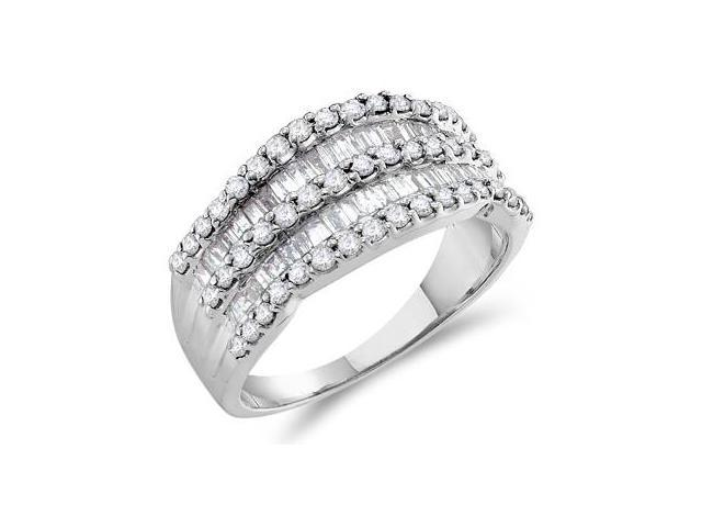Diamond Anniversary Band 14k White Gold Fashion Ring (1.00 Carat)