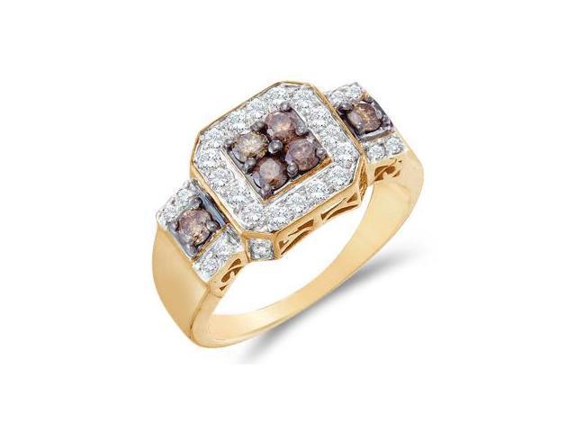 Champagne Brown Diamond Ring 14k Yellow Gold Anniversary (1.00 Carat)