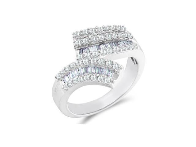 Diamond Ring 14k White Gold Anniversary Band (0.86 Carat)