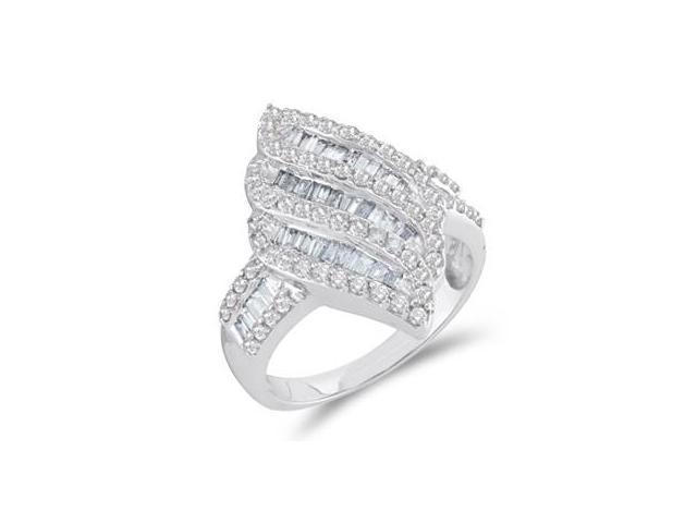 Diamond Fashion Band 14k White Gold Anniversary Ring (1.00 CTW)