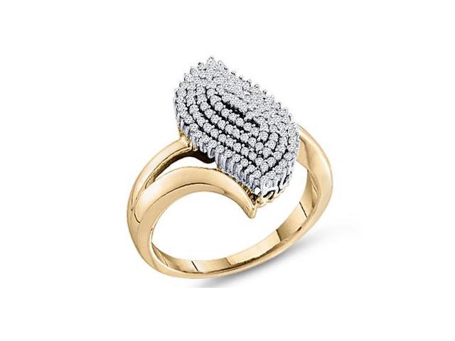 Cluster Diamond Ring 10k Yellow Gold Anniversary (0.40 Carat)