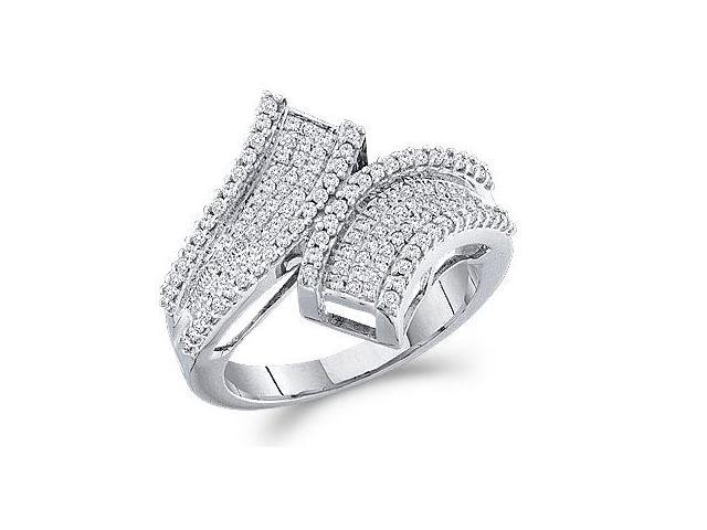 Diamond Ring Anniversary Fashion Band 10k White Gold (1/2 Carat)